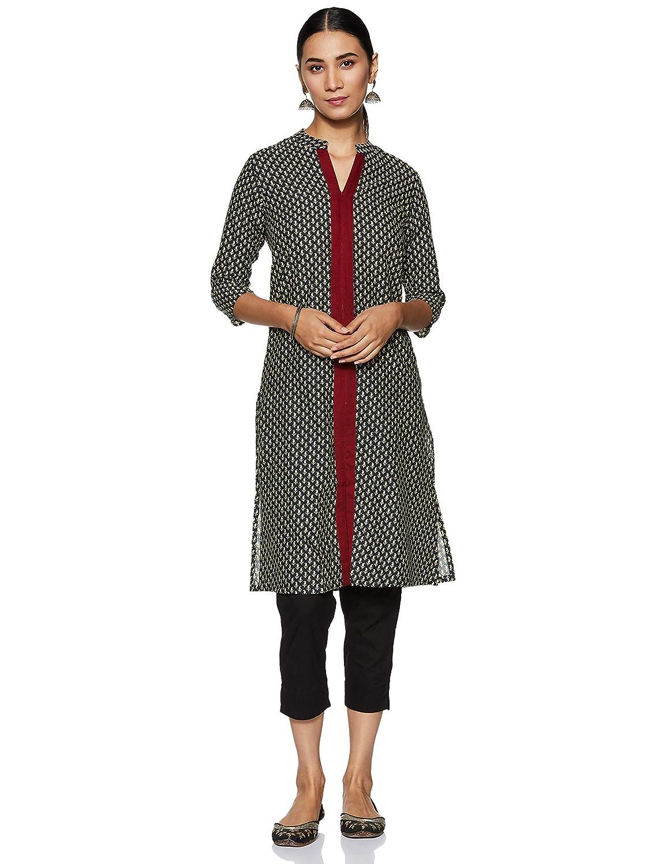 Indi lite Women's cotton a-line Salwar Suit Set