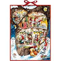 Coppenrath Cristmas Elves enorme tradizionale tedesco calendario dell' avvento 52cm larghezza x 38cm