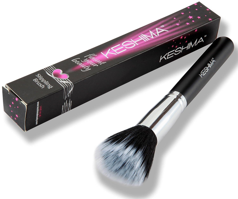 Duo Fiber Stippling Brush By Keshima - Premium Stipple Brush, Best Liquid Foundation Brush, Blending Brush, Face Brush