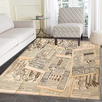 Amazon Antique Rug Kid Carpet Newspaper Pages With Advertising