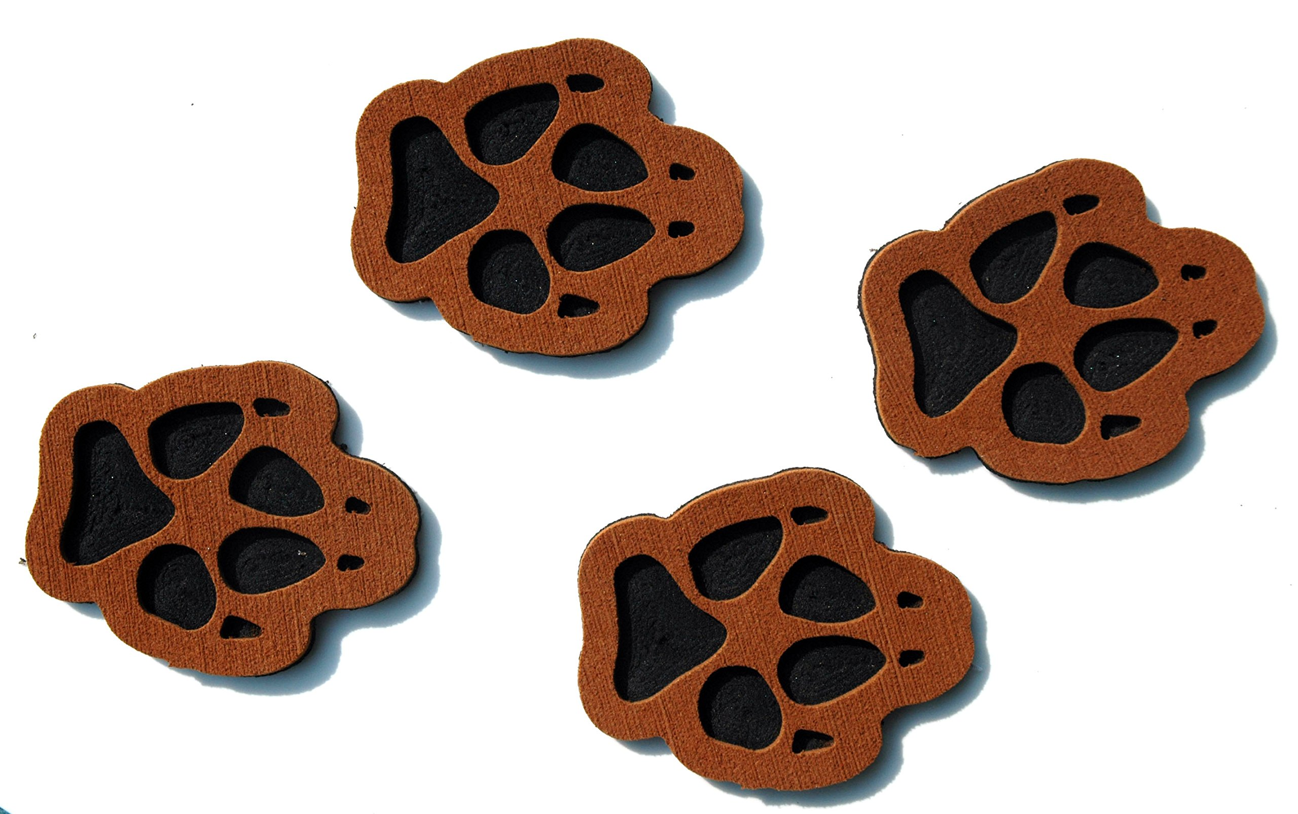 ToeJamR - Snowboard Stomp Pads - 4 PUPPY PAWS - Brown