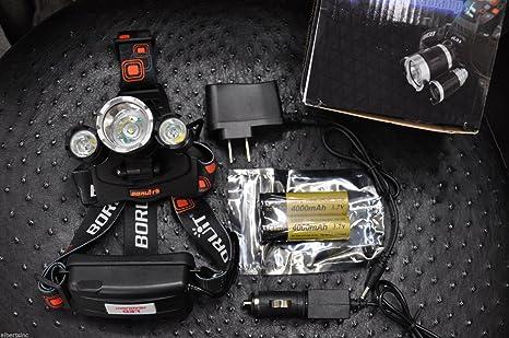 NEW BORUiT 13000 Lumen Zoomable Headlamp XM-L 3x L2 LED Headlight 18650 Battery