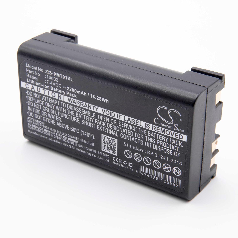 entrega gratis vhbw Li-Ion Li-Ion Li-Ion batería 2200mAh (7.4V) para medidor multímetro como Pentax 10002  envío gratis