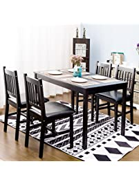 Harperu0026Bright Designs 5 Piece Wood Dining Table.