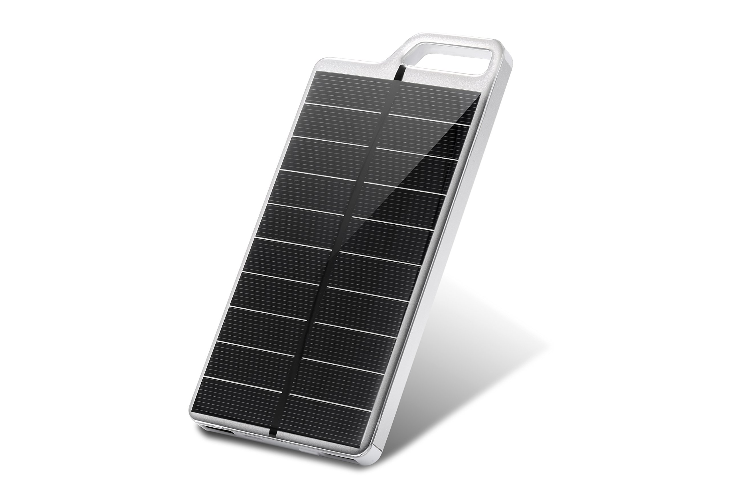 Solar Charger NEW FOR 2018 KUJI PowerGreen High Capacity 10,000mAh Portable Water Resistant/Shockproof/Dustproof/Scratchproof Dual USB Charger for Cell Phones & ALL devices iPhone & Android. (silver)