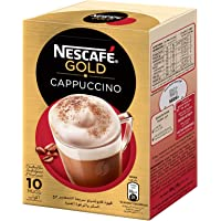 NESCAFE GOLD CAPPUCCINO Instant Foaming Coffee Mix - 17g x 10 Sticks