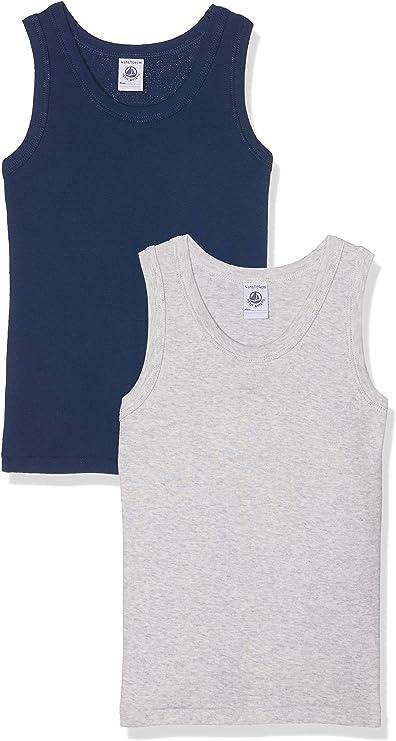 Petit Bateau Set of 2 Boys N//S Striped Undershirts Sizes 2-12 Style 26475