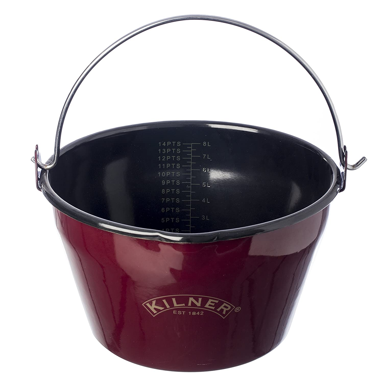 Kilner Enamel Jam Pan, Red Rayware 0025.431