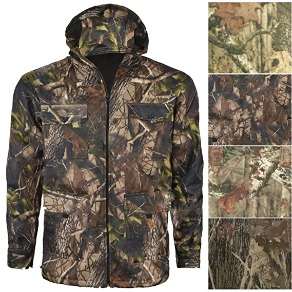 6c5762ad72ca6 Mens Jungle Print Jacket Camouflage Tree Combat Hunting Coat Forest Hooded  TOP: Amazon.co.uk: Clothing