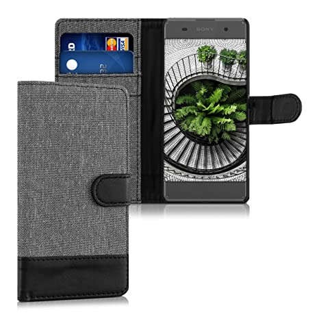 kwmobile Sony Xperia XA Hülle - Kunstleder Wallet Case für Sony Xperia XA mit Kartenfächern und Stand