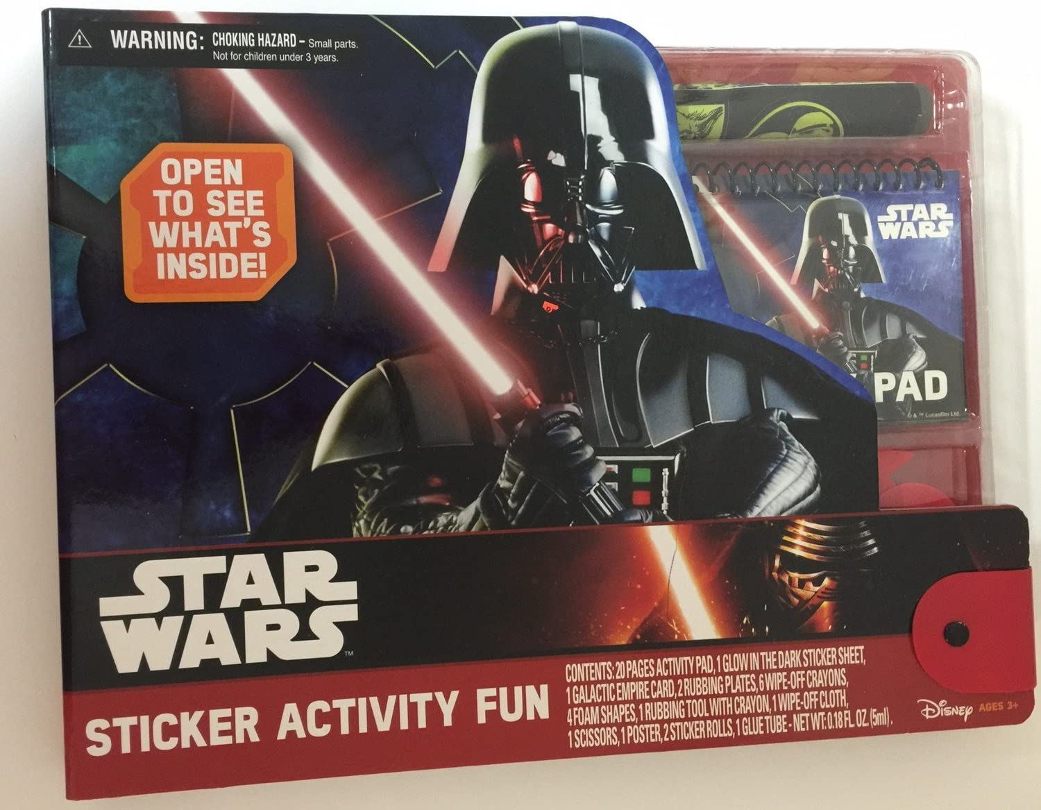 300 ct Sticker Pad Book 4 Pages Star Wars Brand New