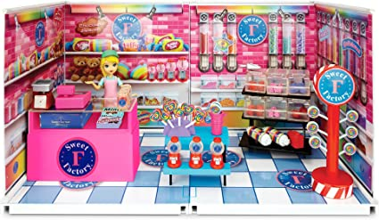Amazon Com Miworld Deluxe Sweet Factory Candy Store Environment Set Toys Games