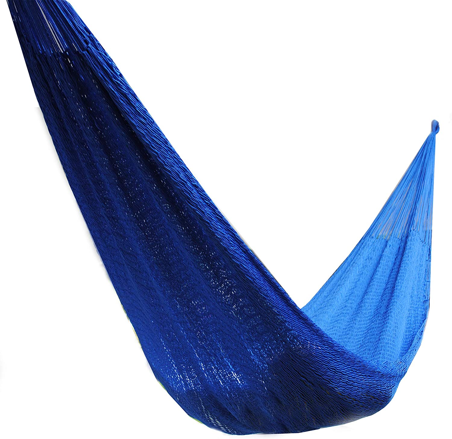 Handmade Indoor and Outdoor Hammock, Single or Double, Lightweight and Durable Medium One Person , Blue
