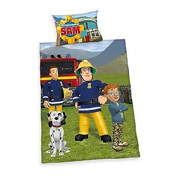 Herding 2470016063 Parure de Lit avec Imprimé Sam Le Pompier en Coton  Multicolore 100 x 135 195dcd8361bc