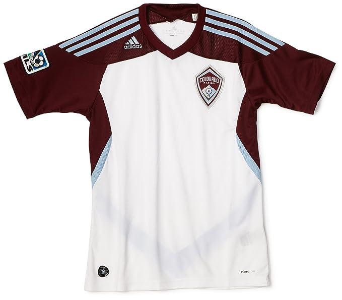 1e9b7fc8167 MLS Colorado Rapids Boy's Replica Away Jersey (White, Light Sky, Dark  Burgundy,