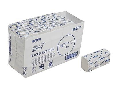 SCOTT* Excellent Plus Medium Toallas Secamanos Plegadas en C 6607 - 20 x 110 toallas