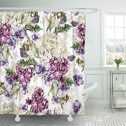 Emvency Shower Curtain Purple Vintage Bright