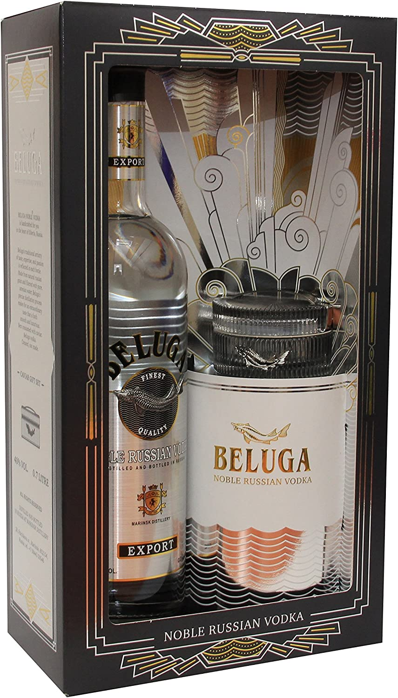 BELUGA Kaviar Glasschale mit Deckel Beluga Caviar Glass Noble Russian Vodka