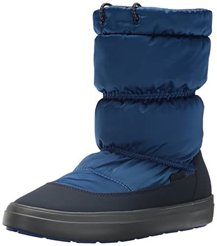05d8712e33e Crocs Women s LodgePoint Shiny Pull-on W Snow Boot Blue Jean Navy 5 M