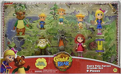 Goldie /& Bear Fairy Tale Forest Friends Set Multicolor Just Play 49046