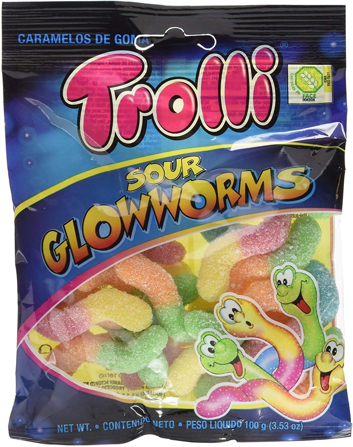 Gominolas Trolli 100 gr - Pack de 12 bolsas (Gusanos Pica): Amazon ...