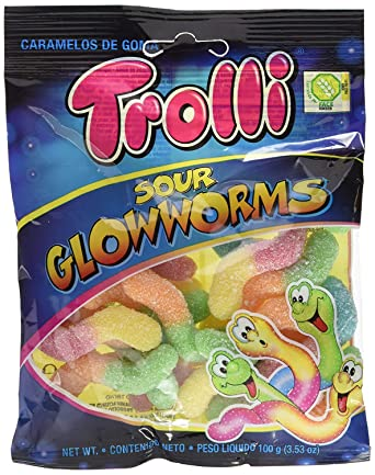 Gominolas Trolli 100 gr - Pack de 12 bolsas (Gusanos Pica ...