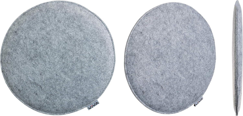 Brandsseller Cuscino rotondo in feltro 100/% poliestere 2er-Vorteilspack antracite.