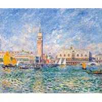 Canvas Print Reproduction 24X20 Inch View of Venice by Pierre-Auguste Renoir Impressionist City Scapes Paintings Wall Art