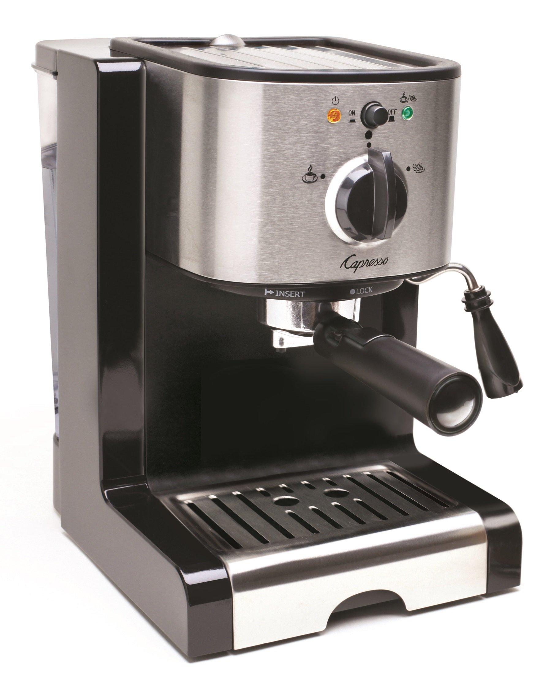 Capresso 116.04 Pump Espresso and Cappuccino Machine EC100, Black and Stainless by Capresso (Image #2)