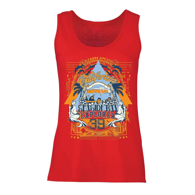 lepni.me Camisetas sin Mangas para Mujer Primer Día de California - Explorador de la Bahía Costera - Ropa de Surf: Amazon.es: Ropa y accesorios