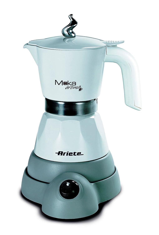Ariete 1358 Electric Moka Aroma Coffee Machine, 480 W, White 1358W