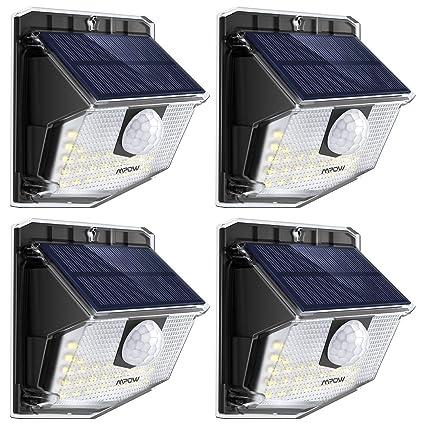 Mpow Lámpara Solar, 30 LED Luz Solar de Exterior, 270° Ángulo de Iluminación
