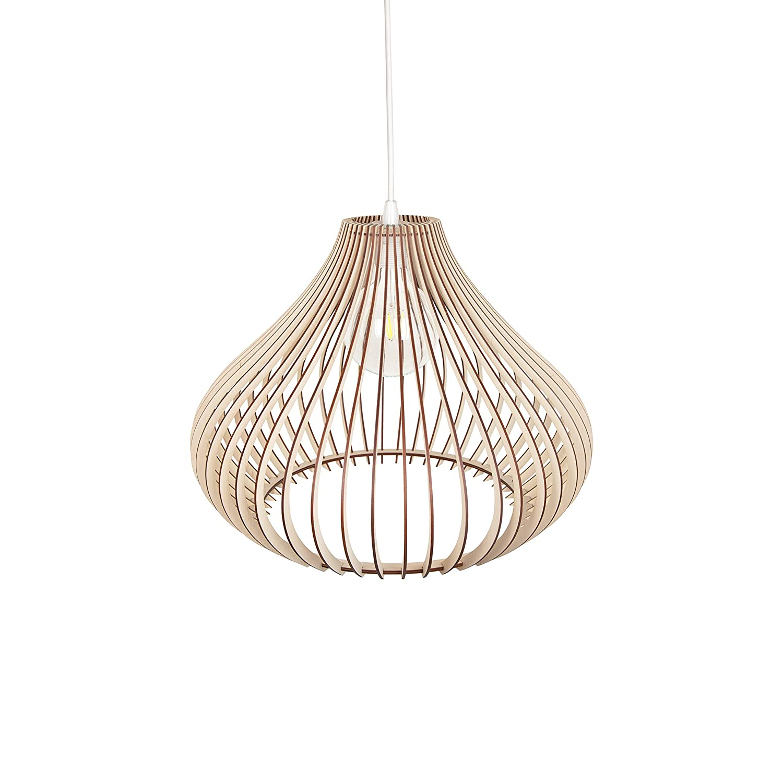 Modern Large Ceiling Mount Wood Lampshade Pendant Light Shade