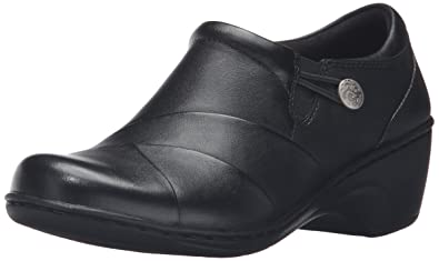 f347b7809e3 CLARKS Women s Channing Ann Slip-On Loafer Black Leather 5 ...