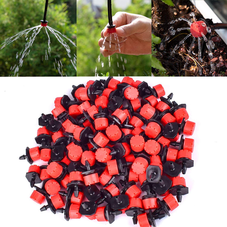 MSDADA 110 St/ück verstellbare Bew/ässerungssprenger Sprinkler Rasen auf 6,35 cm Stange Tropfschutz Anti-Verstopfung Bew/ässerungssystem f/ür Beete Garten