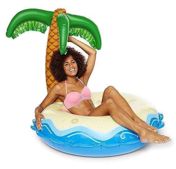 BigMouth Inc Giant Palm Tree Island Oasis Piscina flotante: Amazon.es: Juguetes y juegos