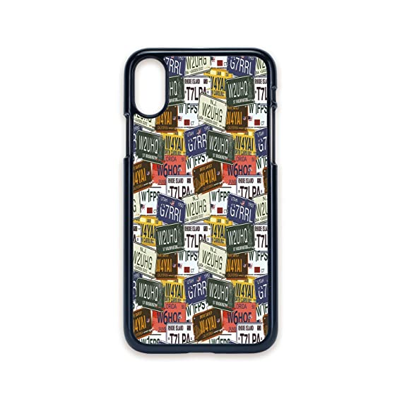 Amazon com: Phone Case Compatible with iPhone X 2D Print Black Edge
