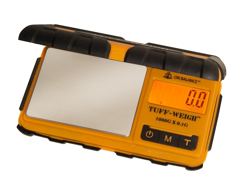On Balance TUFF-WEIGH Orange Digital Pocket Mini Scales 1000g x 0.1g