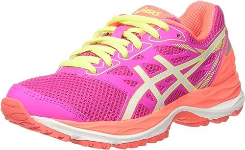 Asics Gel-Cumulus 18 GS, Zapatillas de Deporte Infantil, Rosa (Pink Glow/White/Flash Coral), 34.5 EU: MainApps: Amazon.es: Zapatos y complementos