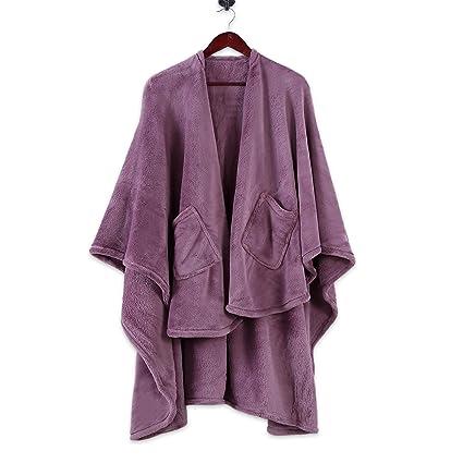 Amazon.com  Berkshire Blanket Plush PrimaLush Cape Wrap dcbedb0ab
