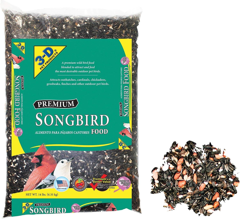 PACK OF 3 - 3-D Songbird Food, 14 lbs