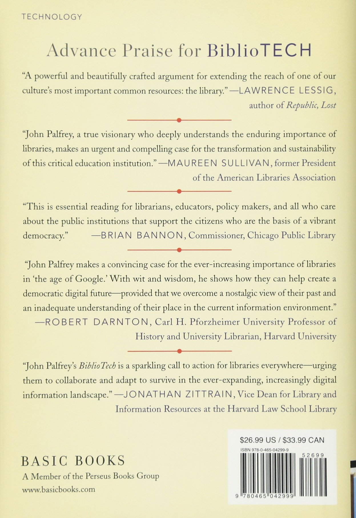 Amazon.com: BiblioTech: Why Libraries Matter More Than Ever in the Age of  Google (0884303821162): John Palfrey: Books