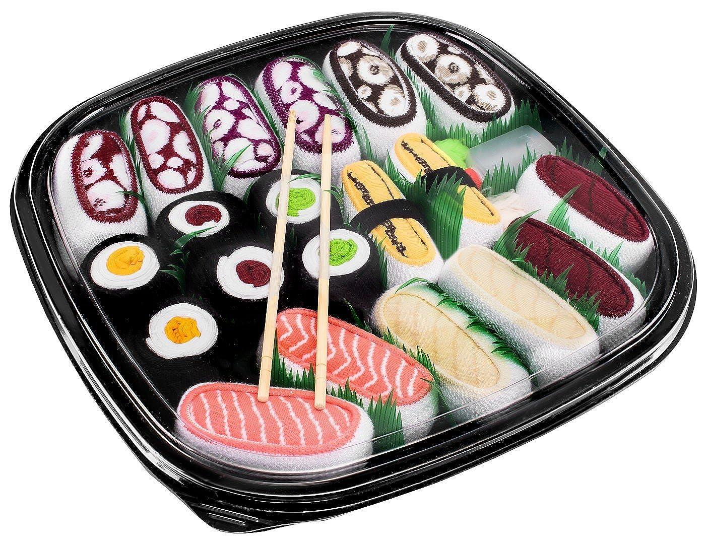 Sushi Socks Box - 10 pares de CALCETINES: Sushi Nigiri y Maki Mix - REGALO DIVERTIDO, Algodón de alta Calidad|Tamaños 41-46, Certificado de OEKO-TEX, ...
