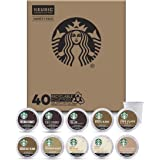 Starbucks K-Cup Coffee Pods — Starter Kit Variety Pack for Keurig Brewers — 1 box (40 pods total)