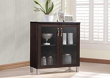 Amazon wholesale interiors sintra sideboard storage cabinet wholesale interiors sintra sideboard storage cabinet with glass doors dark brown planetlyrics Choice Image