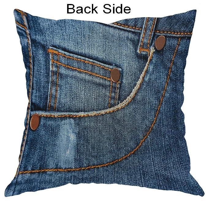 Moslion Blue Almohadas clásicas de Moda Pantalones Vaqueros ...