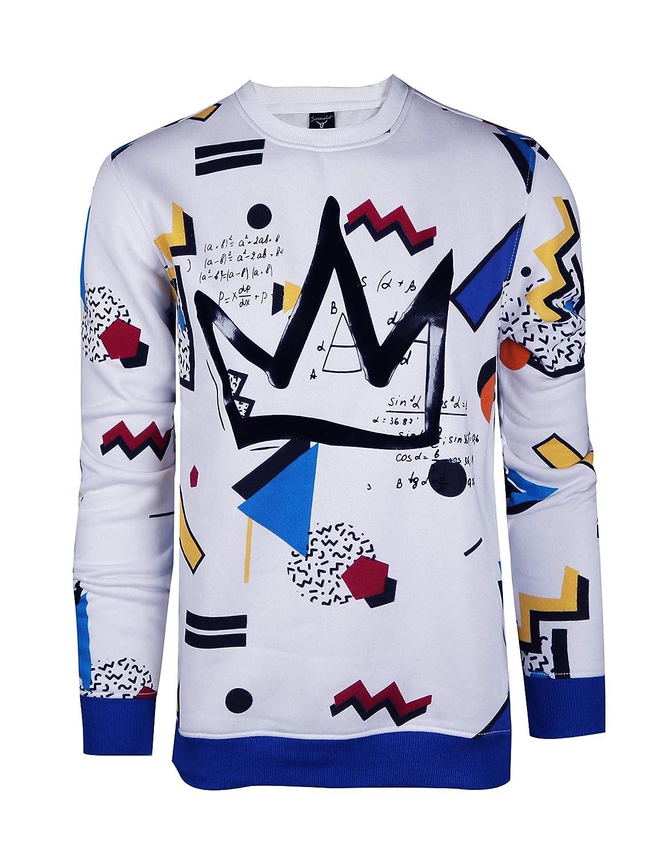 Pullover Activewear Street Fashion Crew Neack Sweatshirt Screenshotbrand Mens Urban Hip Hop Premium Fleece
