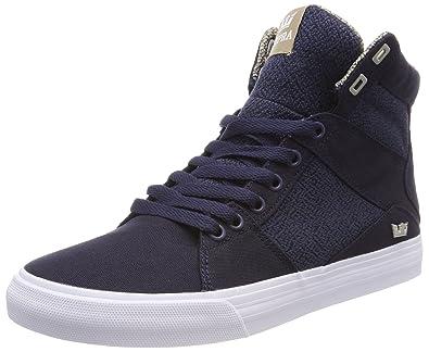 Aluminum, Sneakers Basses Homme, Noir (Black-White), 40 EUSupra
