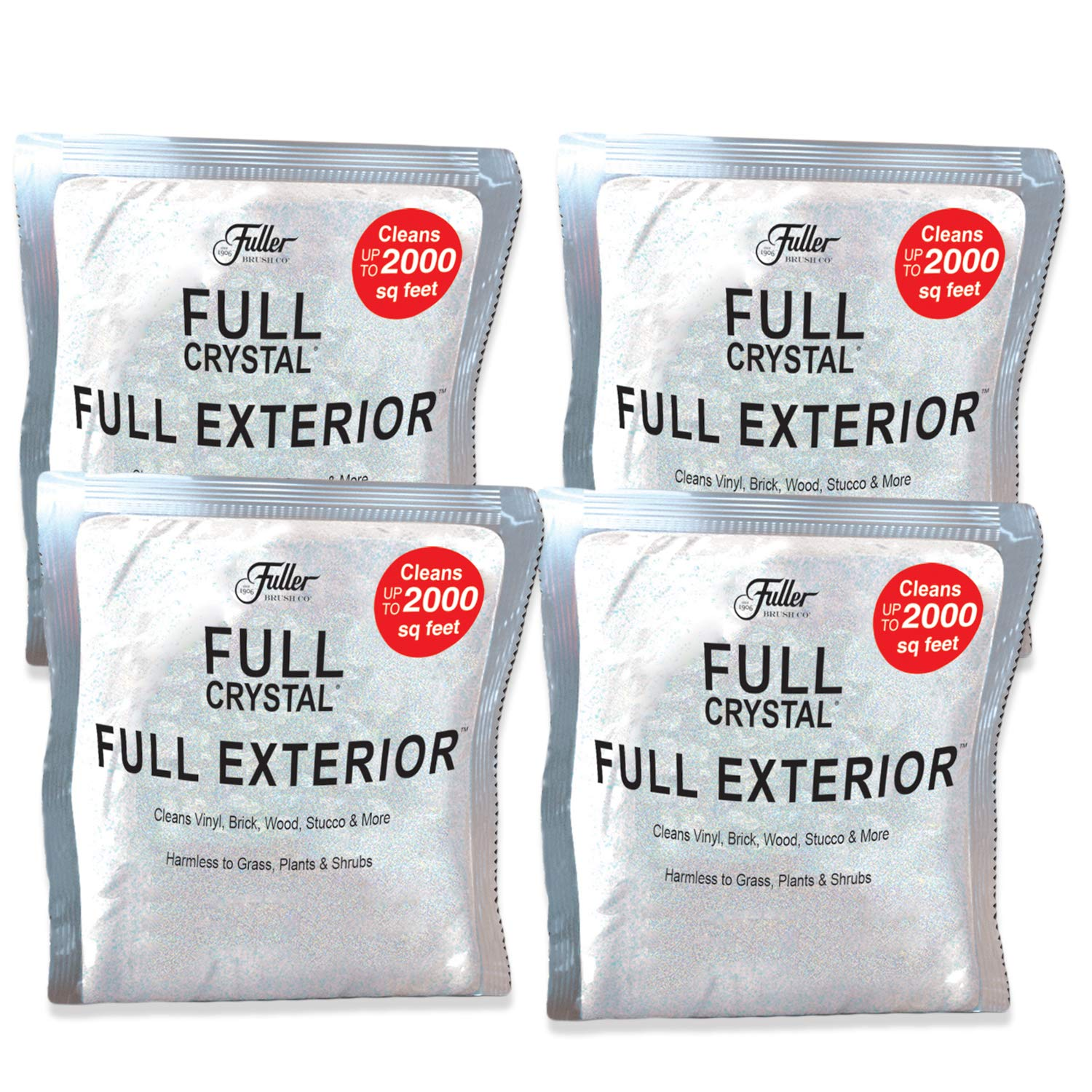 Full Exterior 1 LB. Refill Kit - Four 4oz. Crystal Powder Outdoor Cleaner Packets (Cleans Up to 8,000 Sq. Ft): Non-Toxic, No Scrub, No Rinse Cleaning Solution by Full Crystal (Image #1)