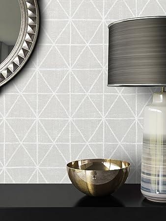 Elegant NEWROOM Tapete Grau Dreiecke Geometrisch Grafik Vliestapete Metallic Vlies  Moderne Design Optik Tapete Modern Inkl.